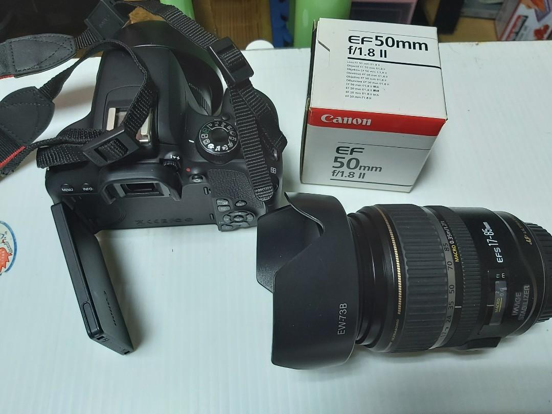 For Sale Canon 800D+2 lens and camera bag