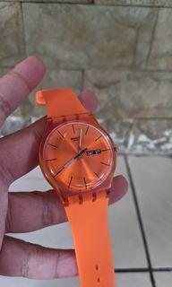 Turun Harga! Jam Swatch New Gen Orange