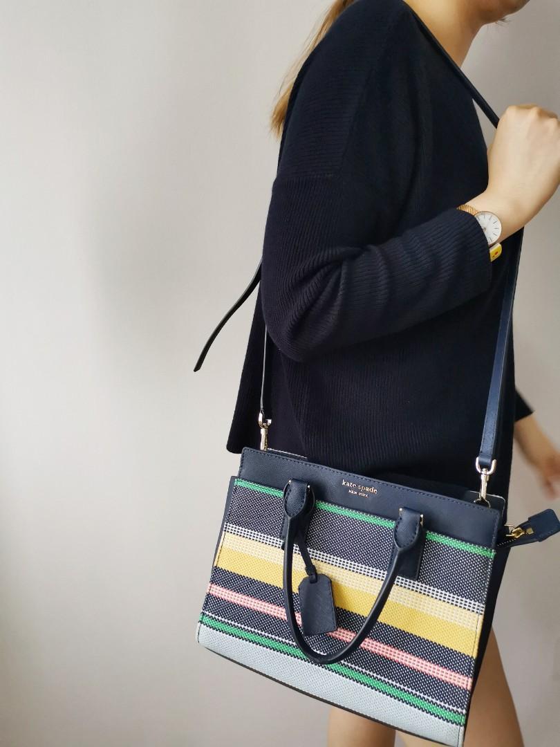 Striped Bag Crossbody Bag Purple and Blue Bag Medium Size Bag Grey Cross Body Bag Gift Under 100 Striped Messenger Bag Grey
