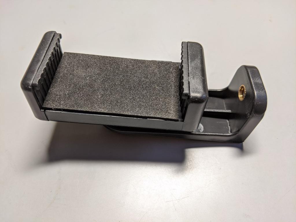 Phone clip 360度旋轉手機夾 橫豎手機夾 雙螺絲孔一字夾 1/4英吋螺牙規格