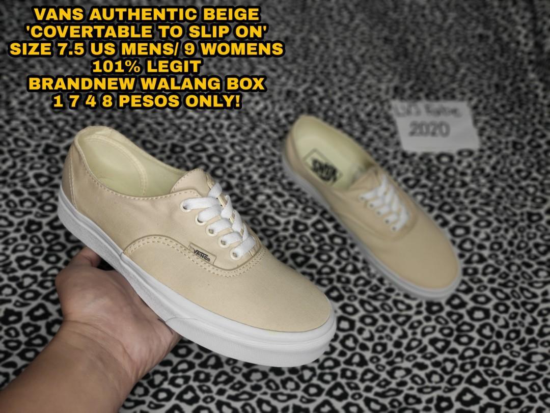 VANS AUTHENTIC BEIGE (LEGIT), Men's Fashion, Footwear, Sneakers on ...