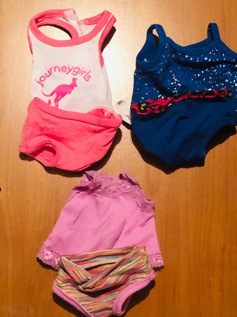 18inch American girl doll underwear clothing set