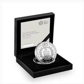 【附真品證書】英國皇家鑄幣廠 英國溫莎100周年銀幣 House of Windsor