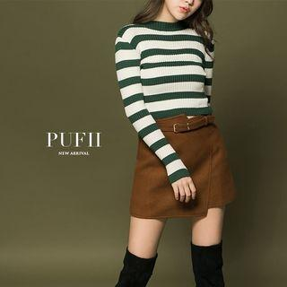 深棕毛尼短裙