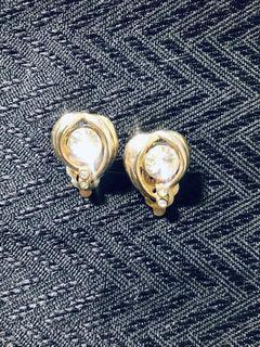 古典 夾式耳環