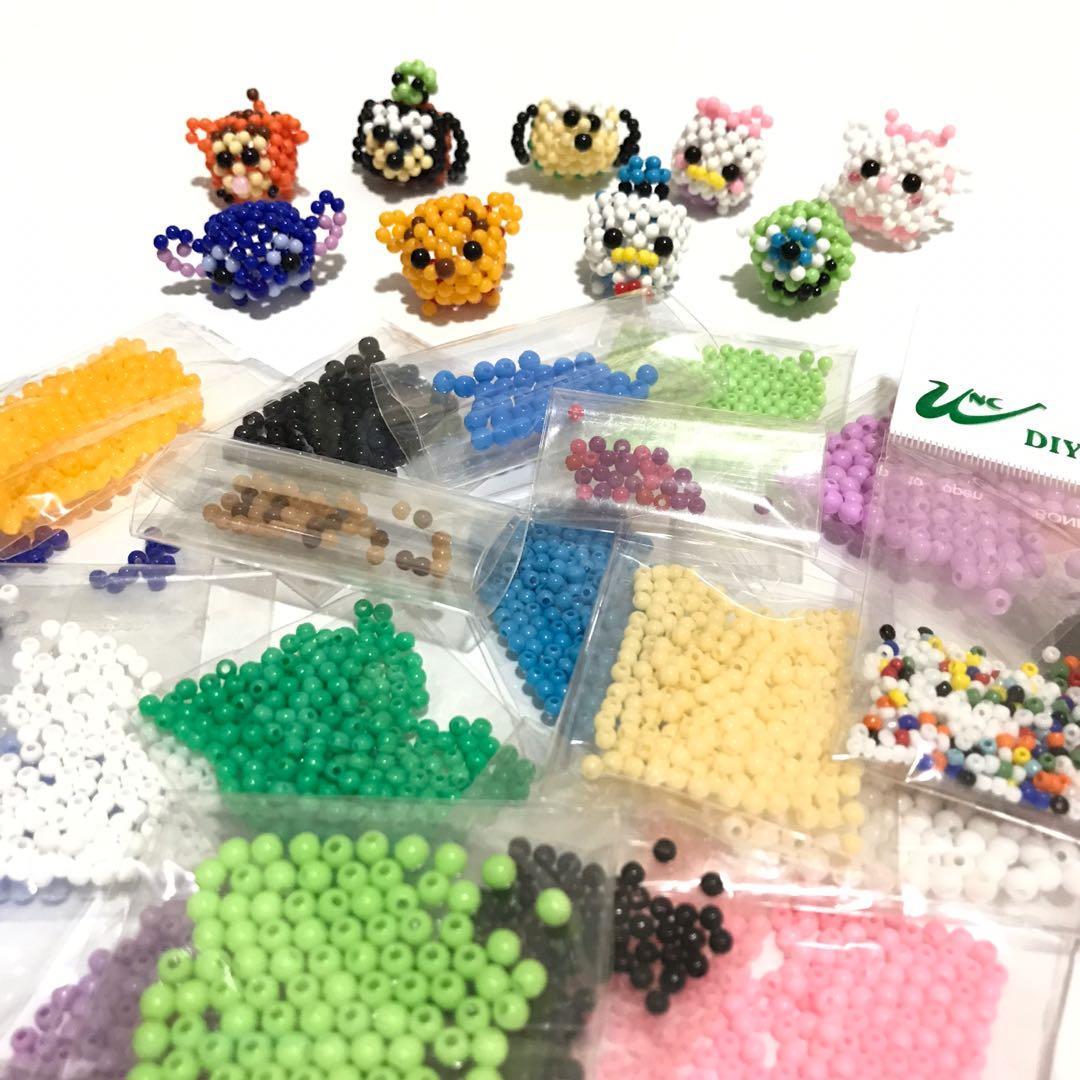 串珠 材料 DIY 手工藝 材料包 塑膠珠 圓珠 糖果珠 手作 迪士尼 高飛 布魯托 小熊維尼 史迪奇 跳跳虎 大眼仔