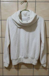 【限時優惠】日本專櫃品牌abc une face純白高領上衣/翻領毛衣