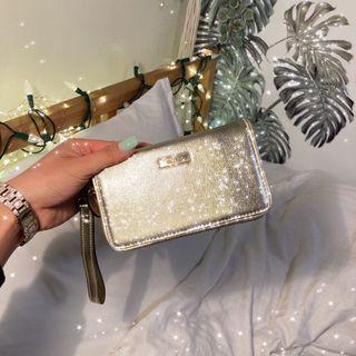 Aldo gold phone wallet cardholder purse