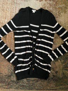 H&M Striped Sailor Cardigan
