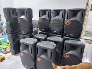 已售出。SOLD...PA OPERA舞台喇叭 ITALY SPEAKER  AMPLIFIER MIXER 擴大機 混音器  喇叭