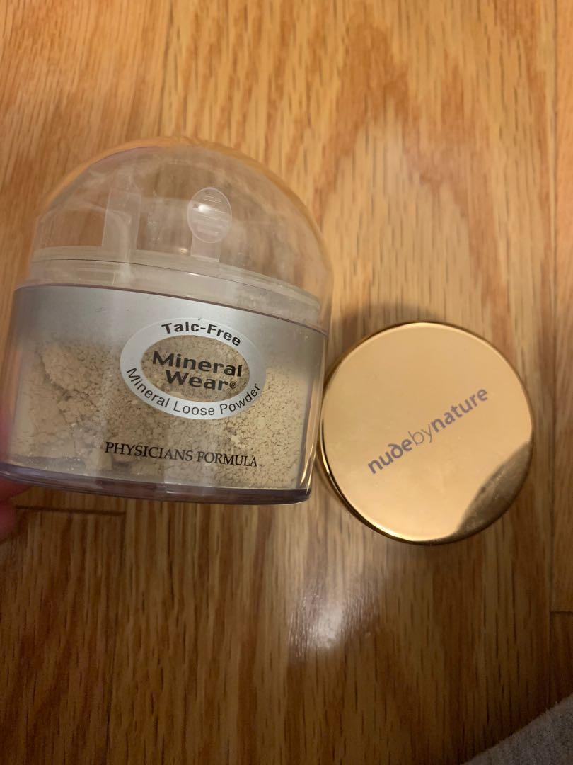Physicians formula mineral wear powder and nude by nature (both for $5)