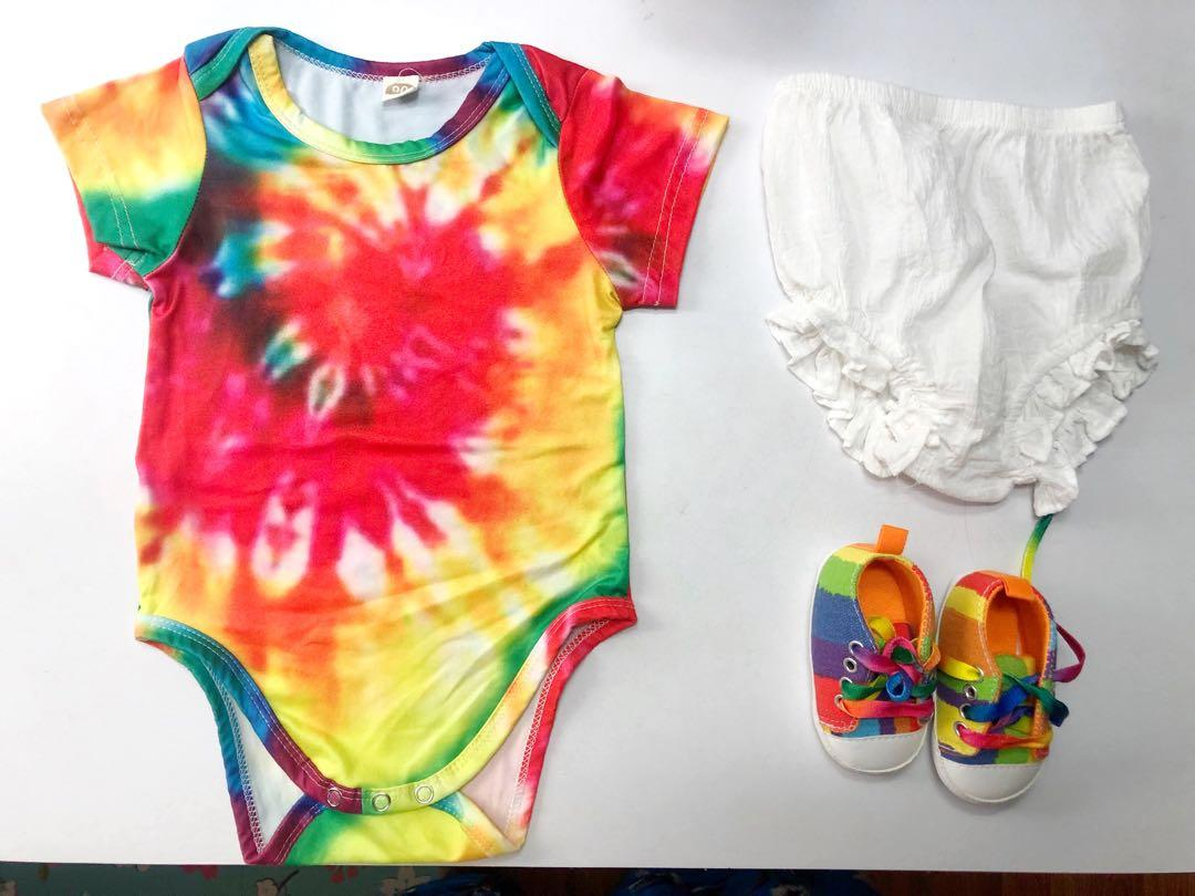 Tie-Dye Baby Onsie Size 3-6 Months