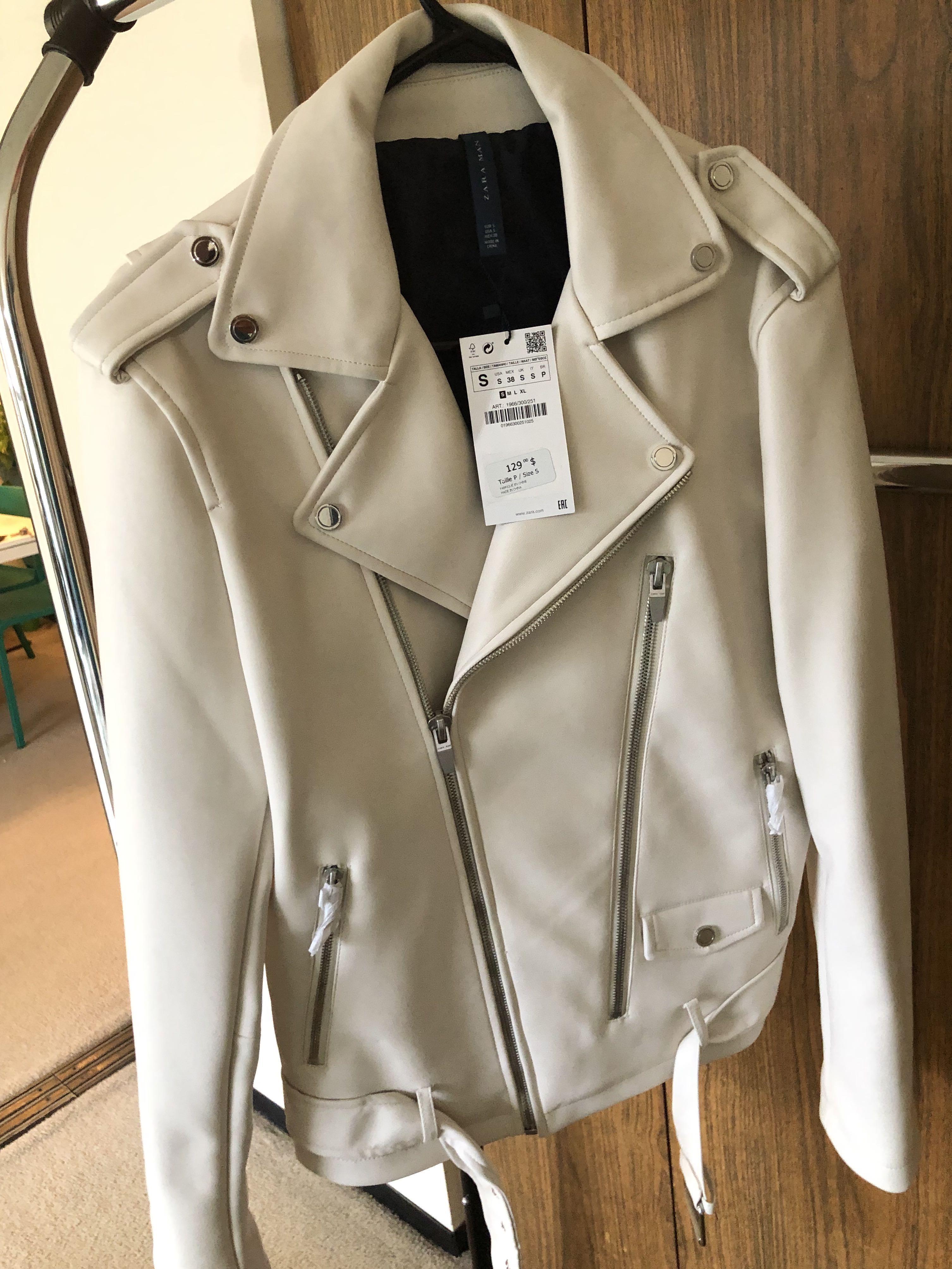Zara Leather Biker Jacket - Small