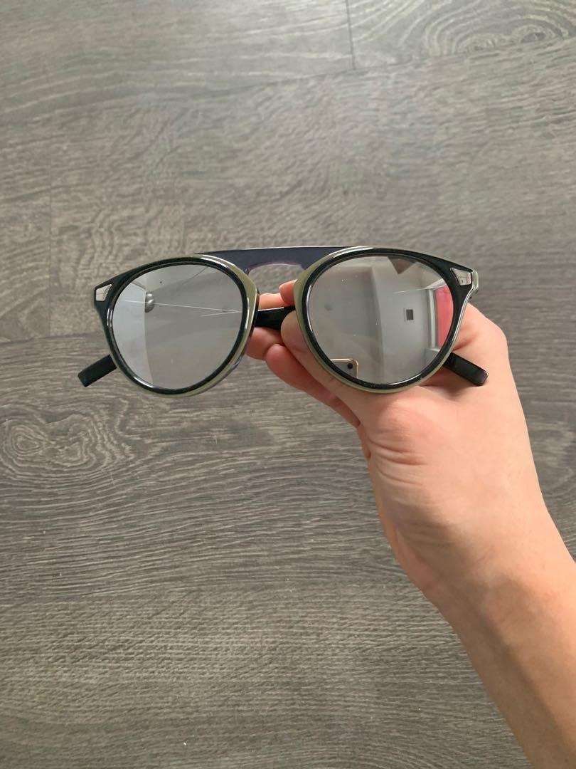 100% AUTHENTIC Dior Tailoring 2 Sunglasses Silver Mirrored Effect