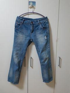 九分牛仔男友褲