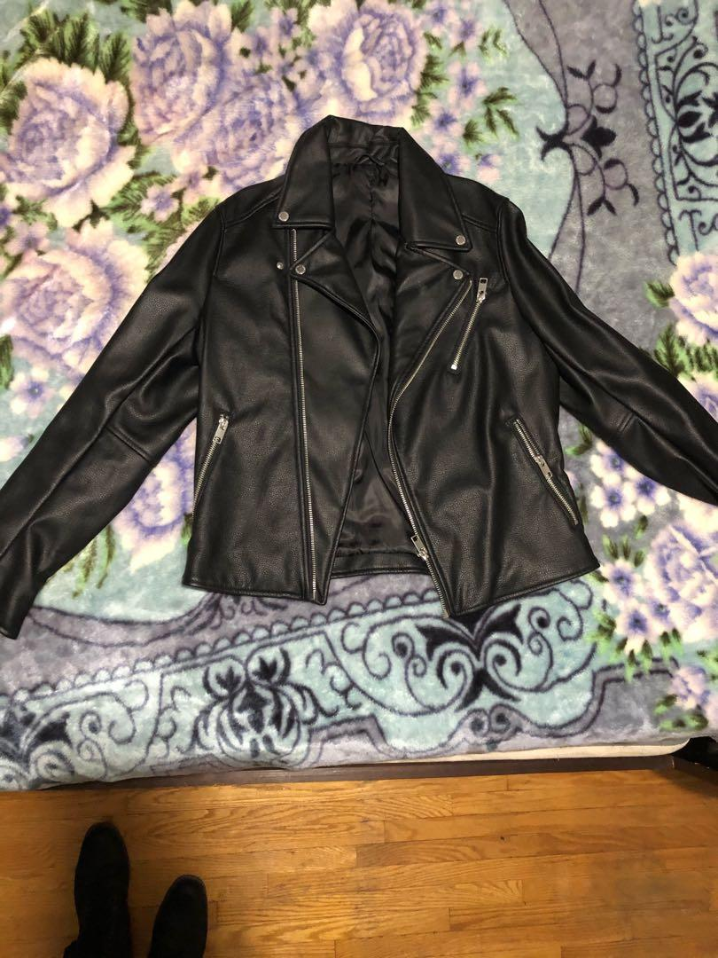Bike Leather Jacket - Never worn, excellent condition