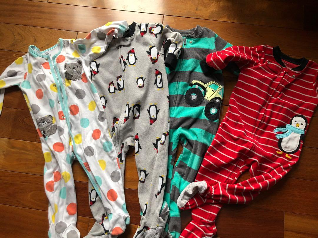 Boys 18 months sleepers lot
