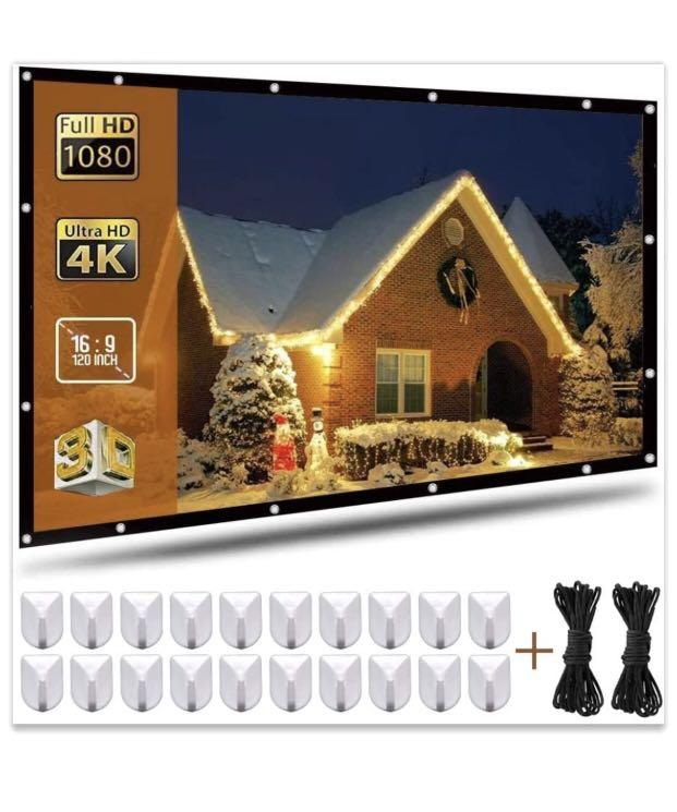 Brand new 120 Inch Projection Screen 16:9 HD Portable Widescreen