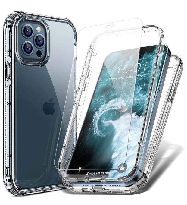 Brand new iPhone 12 Case/12 Pro Case Clear with screen protector