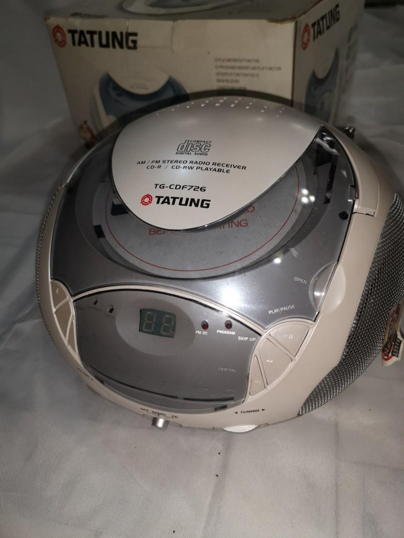 全新大同手提CD音響 TG-CDF726 AM/FM收音機+CD