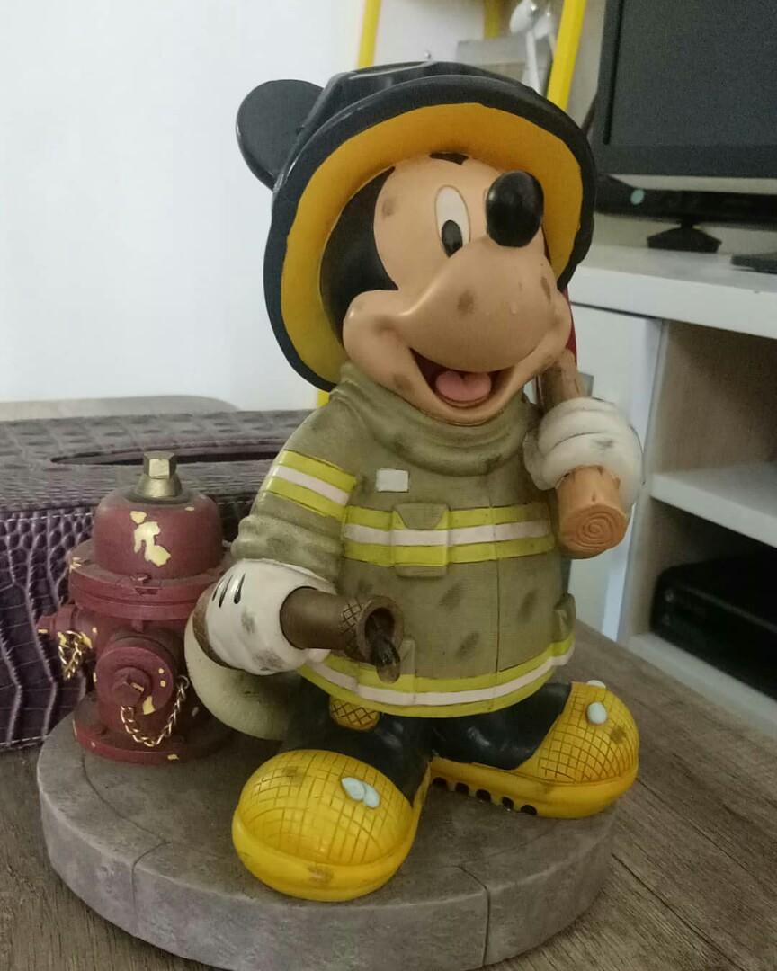 fireman mickey figurine