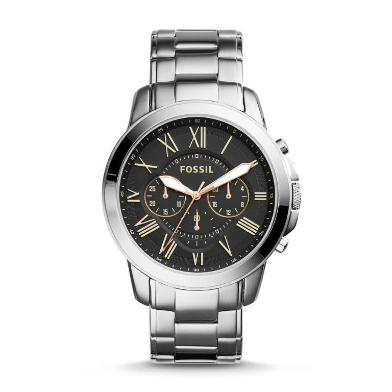 Fossil Men's Watch FS4994 Grant Chronograph Stainless Steel Silver-Tone
