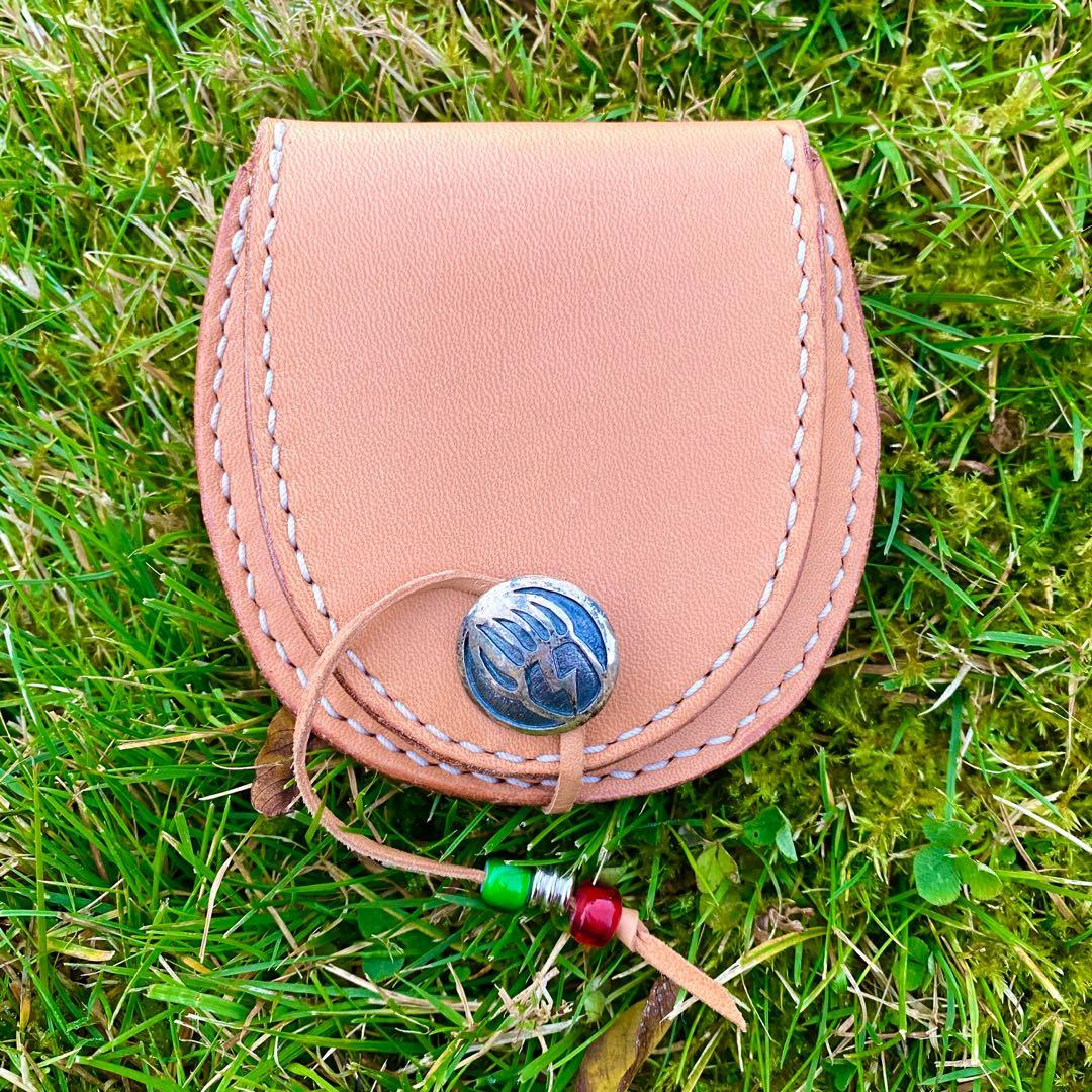 Handmade Edging Leather Coin Pouch/Wallet