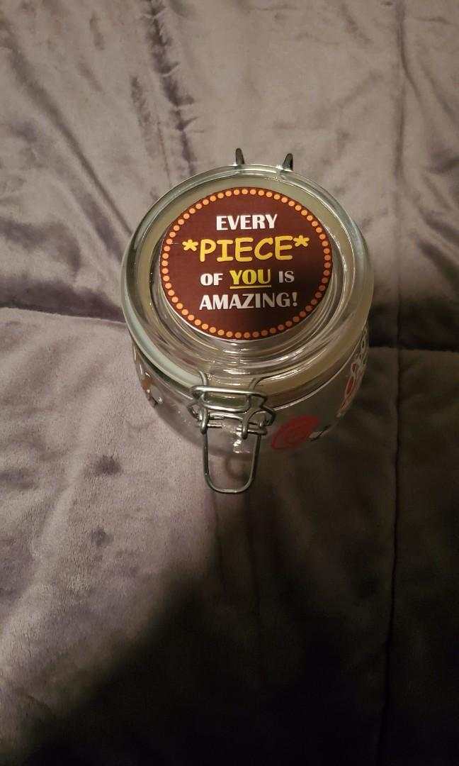 Jar for goodies (Reese's pieces)