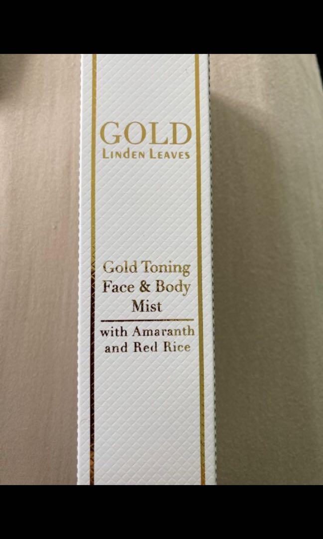 Linden Leaves Gold Toning Face & Body Mist