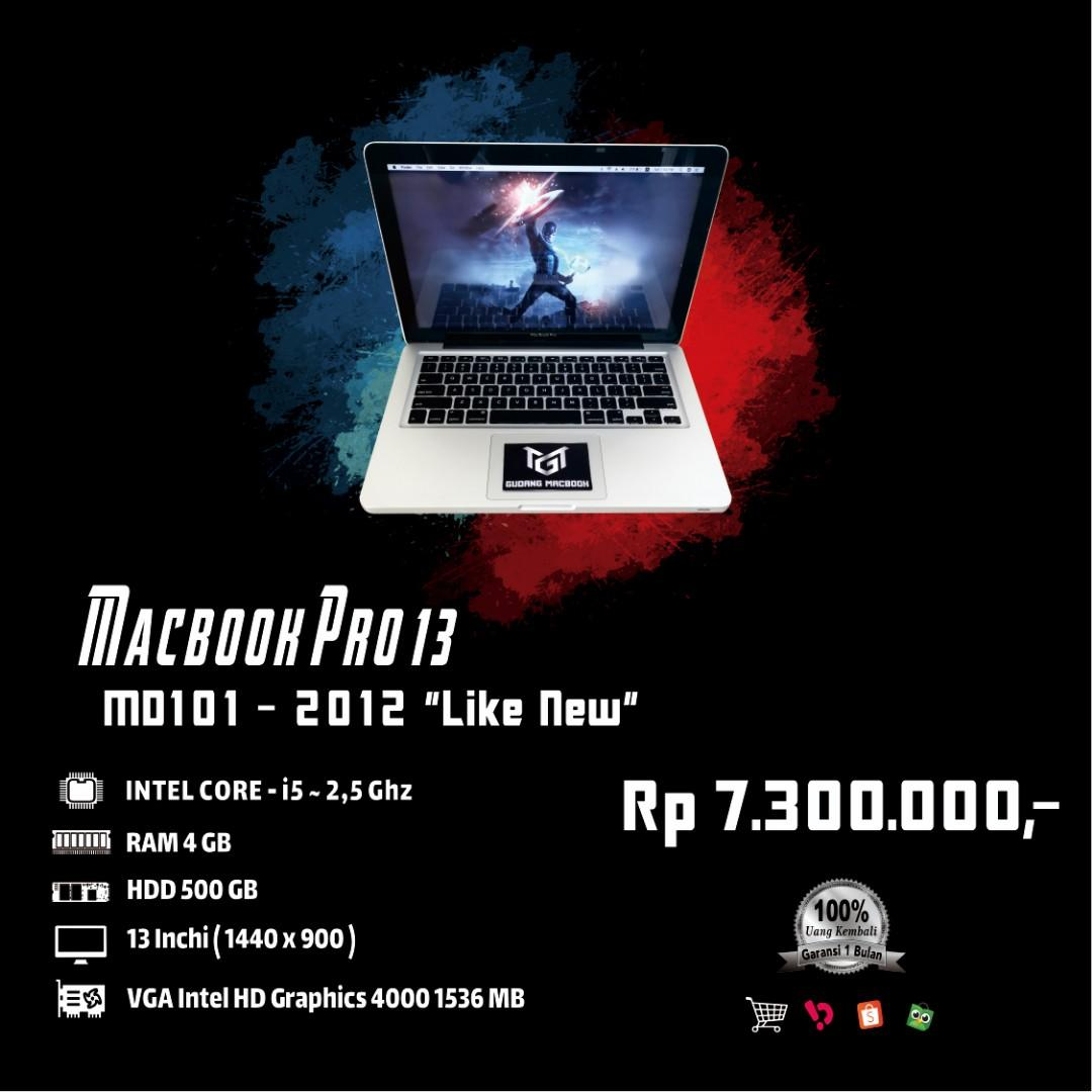Macbook Pro 13 MD101 MID 2012 Core i5 Ram 4 GB HDD 500 GB Like New