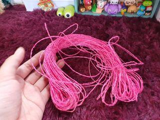 Pink paper rope