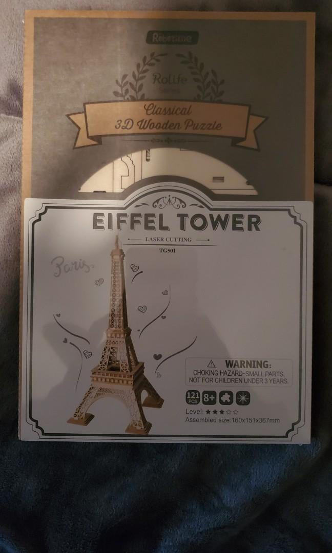 Puzzle 3D Wooden Eiffle Tower