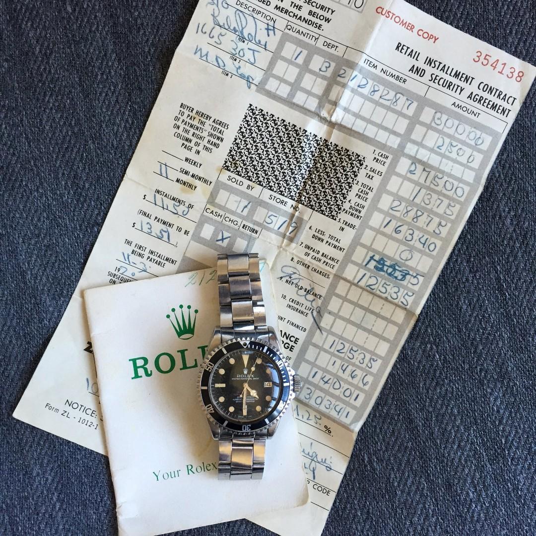 Rolex bust down