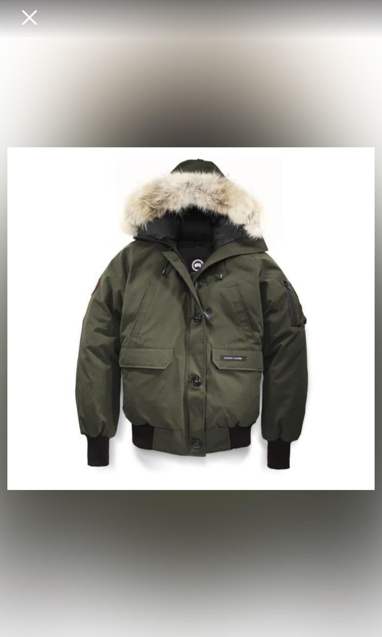 Unisex Authentic Canada Goose Bomber (Army Green)