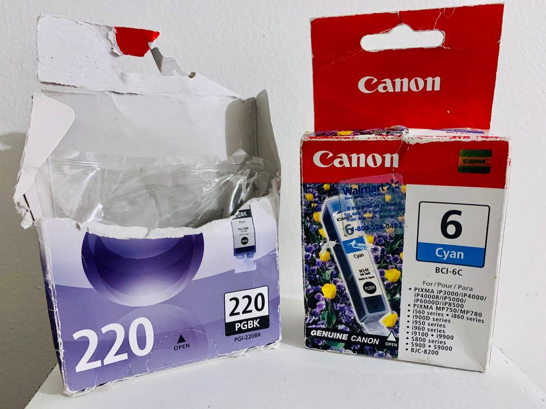 Various brand new Canon ink cartridges