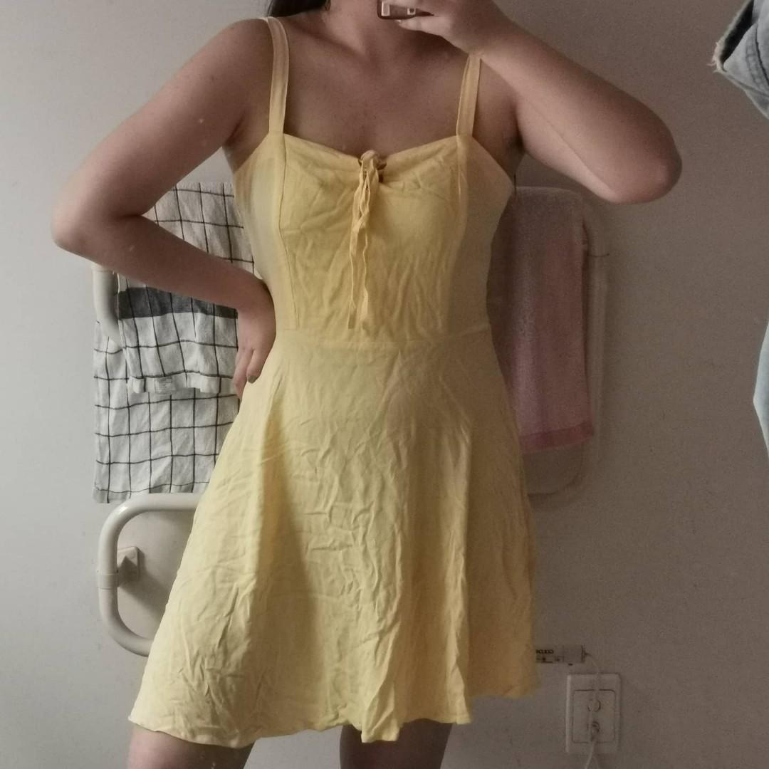 Yellow summer sun dress - cotton on