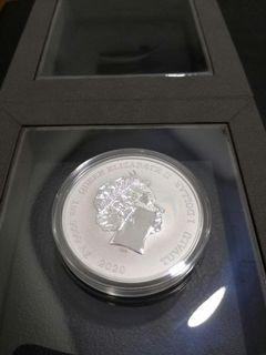 2021 PROMOTION 1oz PURE SILVER COIN 99.99% - 2020 Australia Chinese New Year