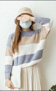 全新間條毛衣