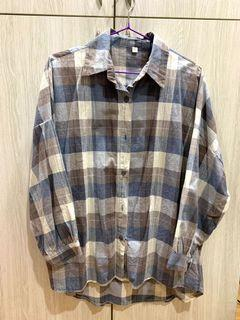 藍色格紋襯衫