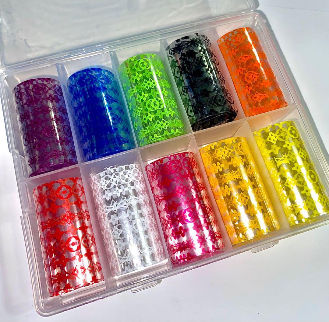 SALE- Designer nail foils - Louis Vuitton multicoloured