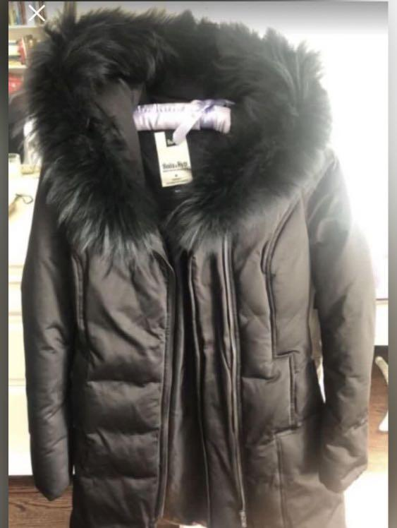 Down jacket real fur