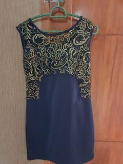 Dress blue mewah
