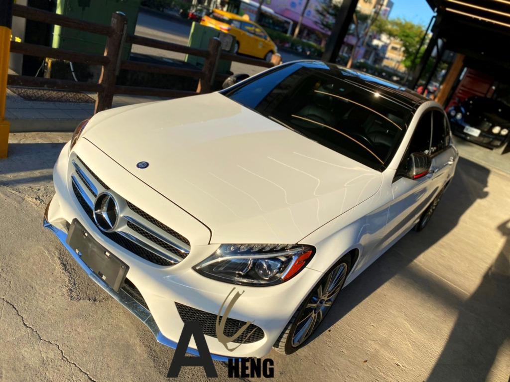 【FB搜尋桃園阿承】賓士 超人氣C300 AMG跑6萬 2015年 2.0CC 白色 二手車 中古車