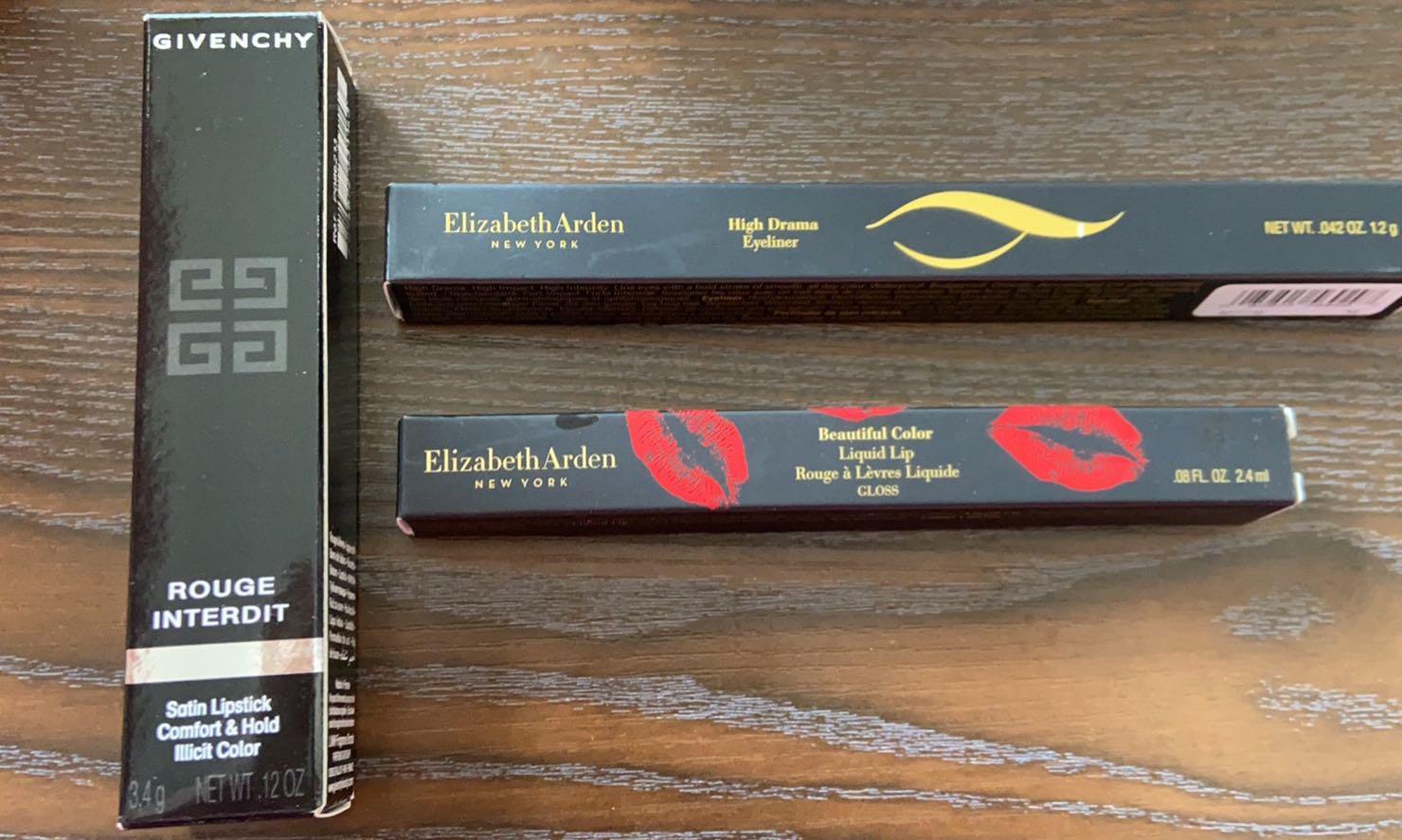 Givenchy & Arden Lipstick & Eyeliner