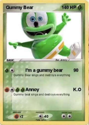 Gummy bear Pokémon card