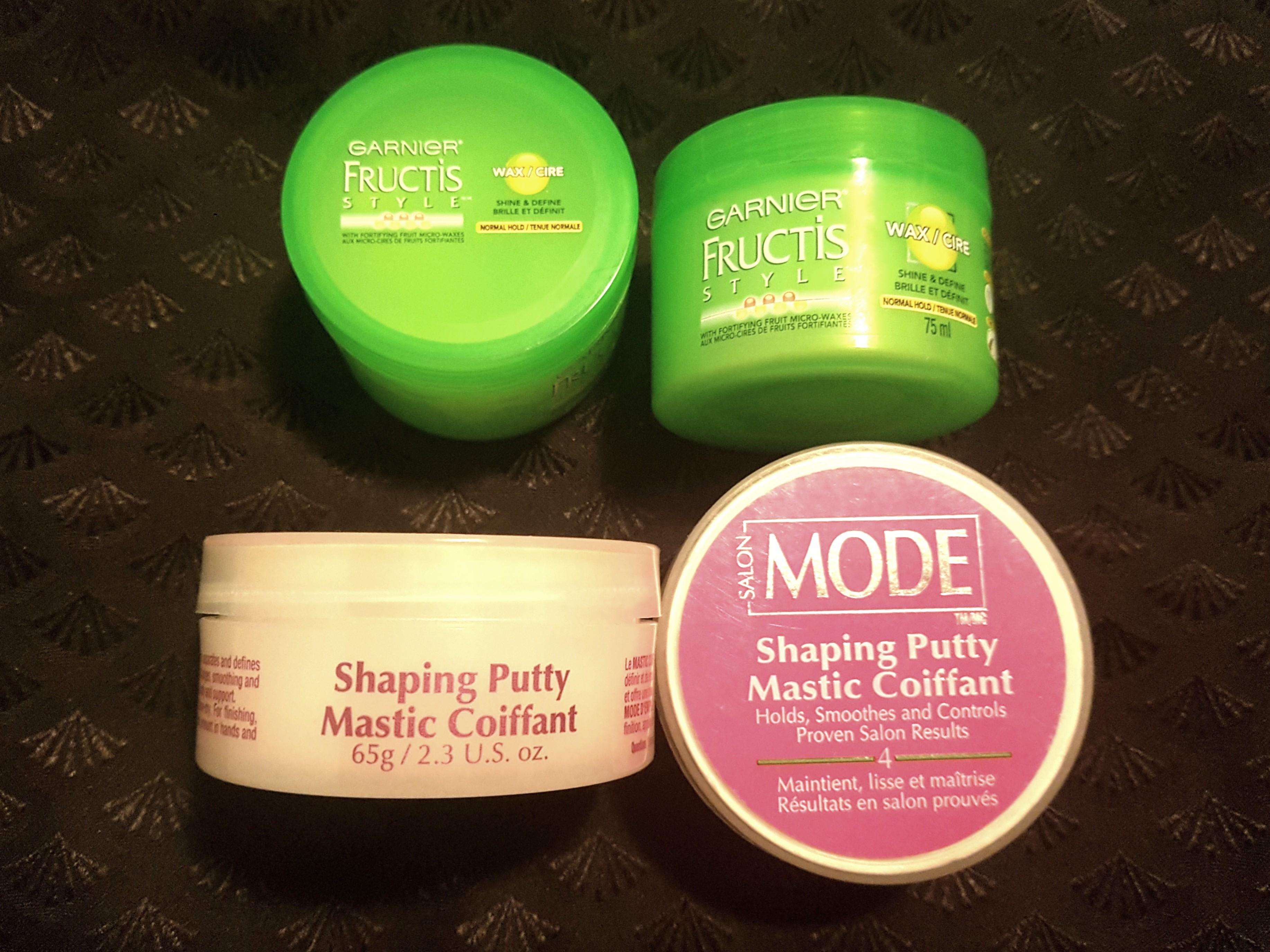 Hair shaping putty and wax LOT