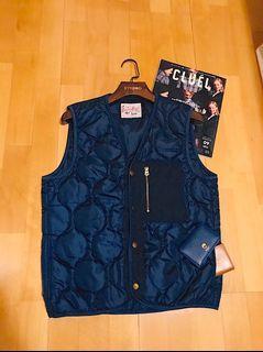 (Soldout🔥)Lee Japan vest絎縫滾邊深藍背心/M號日本線/深藍Navy /男裝中性 /98%new