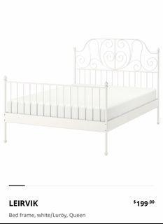 LEIRVIK IKEA Queen Bed frame
