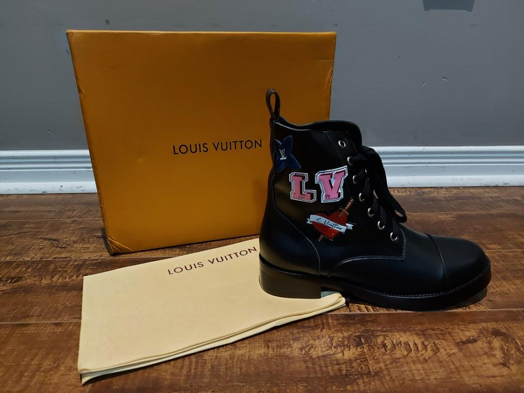 Lv leather boots