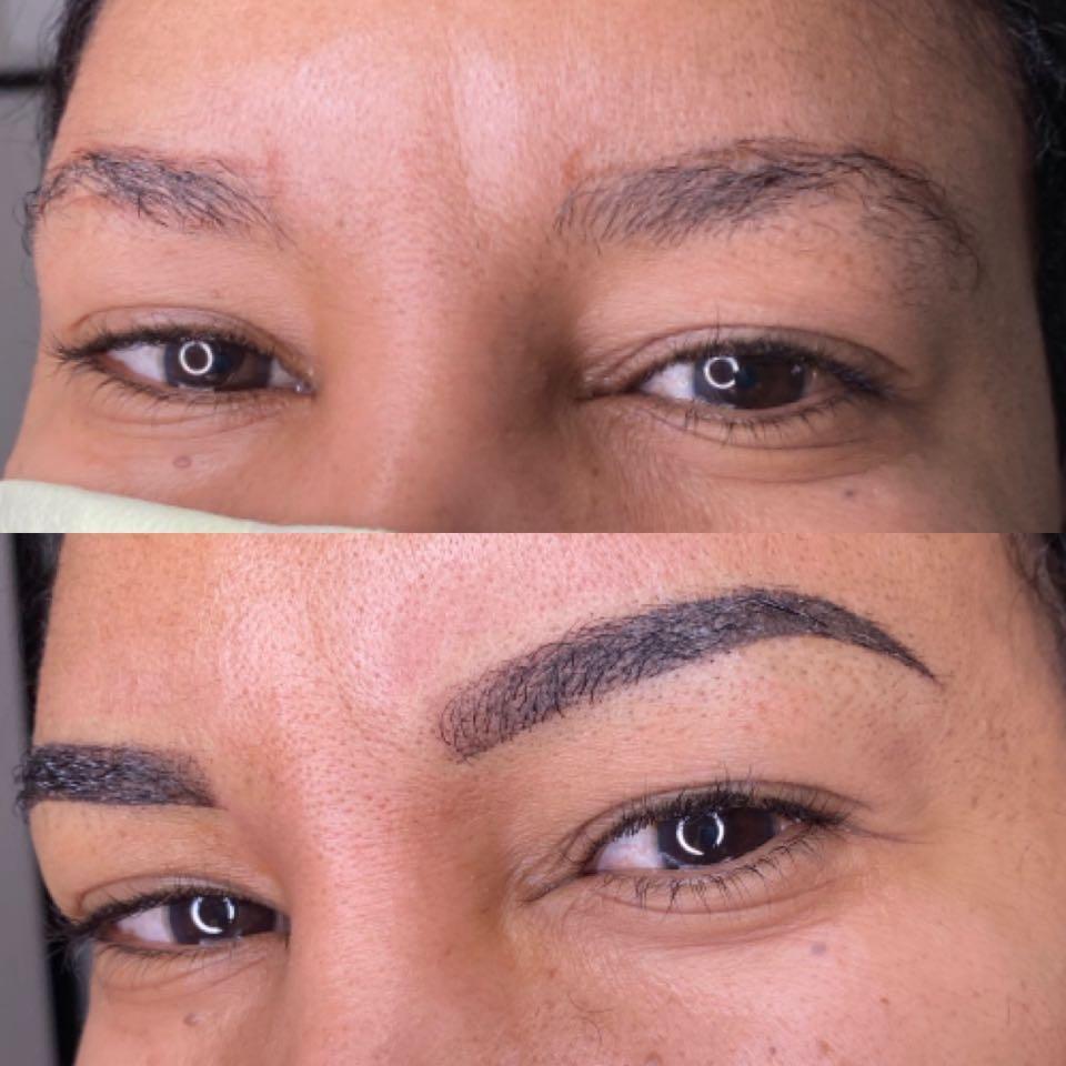 Ombré powder brows